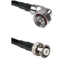 7/16 Din Right Angle Male on RG142 to MHV Male Cable Assembly