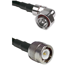7/16 Din Right Angle Male on RG214 to C Male Cable Assembly