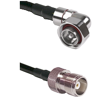 7/16 Din Right Angle Male on RG214 to HN Female Cable Assembly