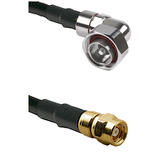 7/16 Din Right Angle Male on RG400 to SMC Female Cable Assembly