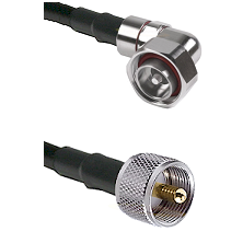 7/16 Din Right Angle Male on RG400 to UHF Male Cable Assembly