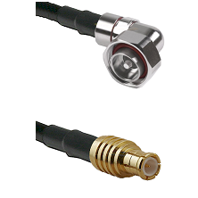 7/16 Din Right Angle Male on RG58C/U to MCX Male Cable Assembly