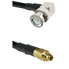 BNC Right Angle Male on LMR100 to MMCX Male Cable Assembly