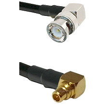 BNC Right Angle Male on LMR100 to MMCX Right Angle Male Cable Assembly