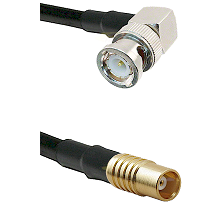 BNC Right Angle Male on RG142 to MCX Female Cable Assembly