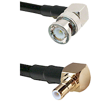Right Angle BNC Male To Right Angle SMB Male Connectors RG178 Cable Assembly