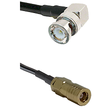BNC Right Angle Male on RG400 to SLB Female Cable Assembly