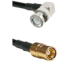 Right Angle BNC Male On RG400 To SMB Female Connectors Coaxial Cable