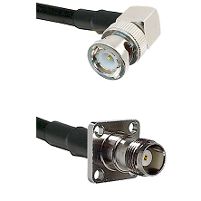 BNC Right Angle Male on RG400 to TNC 4 Hole Female Cable Assembly