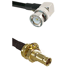 BNC Right Angle Male on RG58C/U to 10/23 Female Bulkhead Cable Assembly