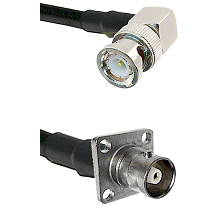 BNC Right Angle Male on RG58C/U to C 4 Hole Female Cable Assembly