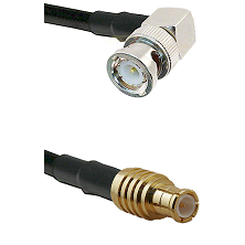 BNC Right Angle Male on RG58C/U to MCX Male Cable Assembly