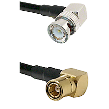 BNC Right Angle Male on RG58C/U to SMB Right Angle Female Cable Assembly