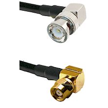 BNC Right Angle Male on RG58C/U to SMC Right Angle Female Cable Assembly