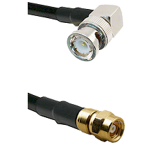 BNC Right Angle Male on RG58C/U to SMC Male Cable Assembly