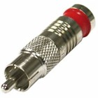 RCA-1904-01-D RF Industries RCA MALE COMPRESSION CRIMP, RG-59, RED RING