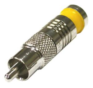 RCA-1904-03-D RF Industries RCA MALE COMPRESSION CRIMP, RG-59, YELLOW RING