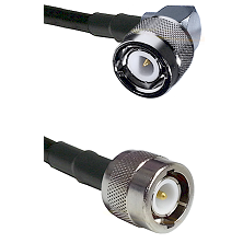 C Right Angle Male on Belden 83242 RG142 to C Male Cable Assembly