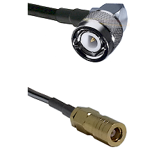 C Right Angle Male on LMR-195-UF UltraFlex to SLB Female Cable Assembly