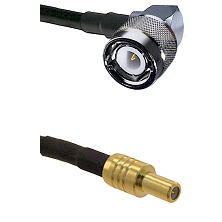 C Right Angle Male on LMR-195-UF UltraFlex to SLB Male Cable Assembly