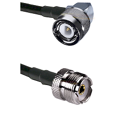 C Right Angle Male Connector On LMR-240UF UltraFlex To UHF Female Connector Cable Assembly