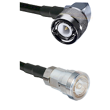 C Right Angle Male on RG400 to 7/16 Din Female Cable Assembly