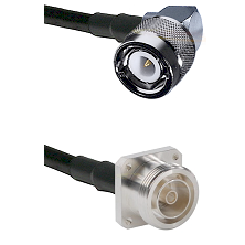 C Right Angle Male on RG400 to 7/16 4 Hole Female Cable Assembly