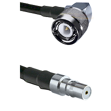 C Right Angle Male on RG58C/U to QMA Female Cable Assembly