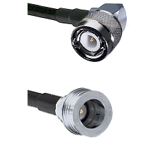 C Right Angle Male on RG58C/U to QN Male Cable Assembly
