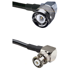 C Right Angle Male on RG58C/U to MHV Right Angle Male Cable Assembly