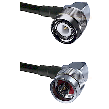 C Right Angle Male on RG58C/U to N Right Angle Male Cable Assembly