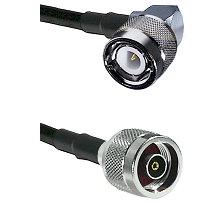 C Right Angle Male on RG58C/U to N Reverse Polarity Male Cable Assembly