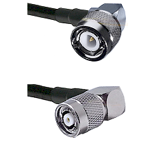 C Right Angle Male on RG58C/U to TNC Reverse Polarity Right Angle Male Cable Assembly