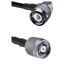 C Right Angle Male on RG58C/U to TNC Reverse Polarity Male Cable Assembly