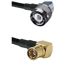 C Right Angle Male on RG58C/U to SMB Right Angle Female Cable Assembly