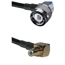 C Right Angle Male on RG58C/U to SMC Right Angle Male Cable Assembly
