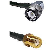 C Right Angle Male on RG58C/U to SMA Reverse Thread Female Cable Assembly