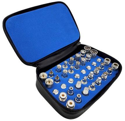 Universal 40piece RF Adapter Kit Nickel Plated