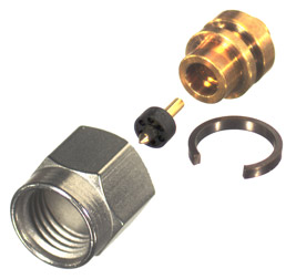 RF29M-SR1 RF Industries 292mm Plug, DIRECT SOLDER, Gold,Gold,T; SR1 CBL GRP