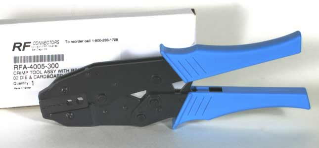 RFA-4005-327 RF Industries CRIMP TOOL W/DIE RFA-4005-27 IN CARDBOARD BOX