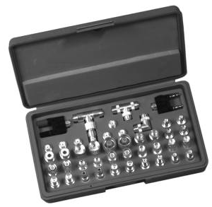 RFA-4023-UK RF Industries EUROPEAN UNIDAPT KIT, 31 PCS(INC7-16 DINickel, SMB), ABS HINGED CASE