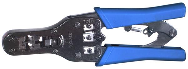 RFA-4202 RF Industries MODULAR RATCHETING TOOL: 3-IN-1 FOR CRIMPTIN HANDSET 4P4C, 4P2C PLUGS, 6P6C (