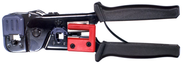 RFA-4212 RF Industries MODULAR TOOL: FOR 8 & 6 POSITION TELEPHONE MODULAR PLUGS; 3-IN-1 CRIMPINGold,