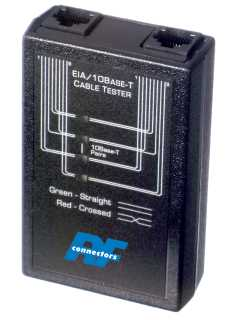 RFA-4218-20 RF Industries CABLE TESTER, EIA/10Base-T, RJ-45 INPUTS, LED DISPLAY