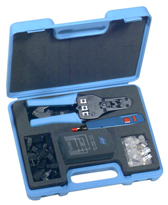 RFA-4221 RF Industries CAT5 INSTALLATION & TEST KIT: CONTAINS RFA-4202 MODULAR TOOL, RFA-4218-20, CA