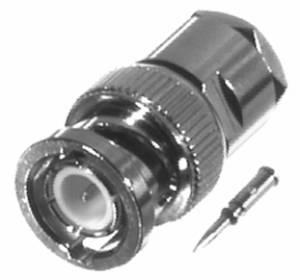 RFB-1100-2 RF Industries BNC MALE SOLDER CLAMP, Nickel,Gold,D; FOR RG58/U & RG-142/U & RG-55/U, CBL