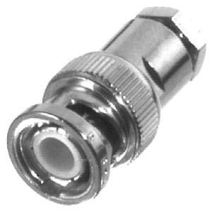 RFB-1100-B RF Industries BNC MALE SOLDER CLAMP, Nickel,Gold,T; FOR RG-174/U & RG316/U, LMR100A, CBL