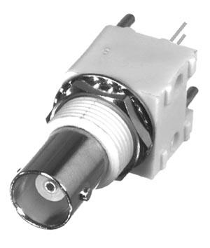 RFB-1113-1W RF Industries BNC FEM VERT HI-PROFILE PCB MNT,(WHITE), A,Gold,P; POST LEG; W/ HARDWARE