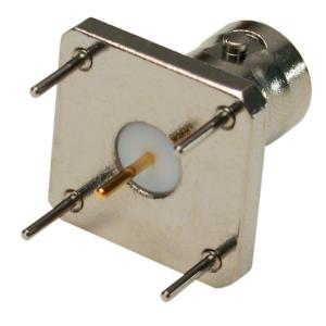 RFB-1115-21 RF Industries BNC FEMALE, VERTICAL PCB MOUNT; HOLES 5 ON CENTER; Nickel,S,T