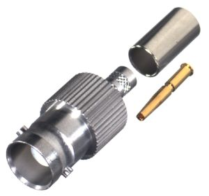 RFB-1123-1-SS RF Industries BNC FEM CRIMP, SST,Gold,T; FOR RG-58/U, CBL GRP C